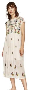 Cream Maxi Dress by Zara