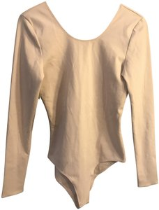Aritzia Wilfred Free Bodysuit Scoop Back Fitted Top Nude
