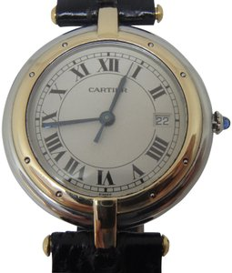 Cartier LADIES 30MM MID SIZE DATE SANTOS RONDE PANTHERE