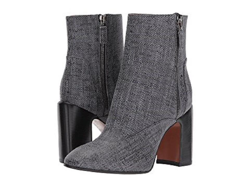 Aquatalia Gray New Elisabeth Womens Boots/Booties Printed Suede Ankle Boots/Booties Womens 01b610