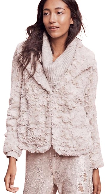 Item - Blush Grey Tiny Editions For Glacie Faux-fur Coat Size 4 (S)