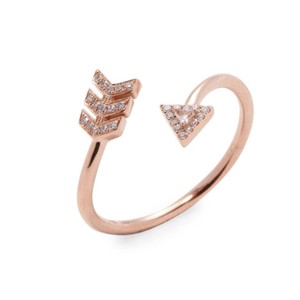 EF Collection 14k Rose Gold Diamond Arrow Wrap
