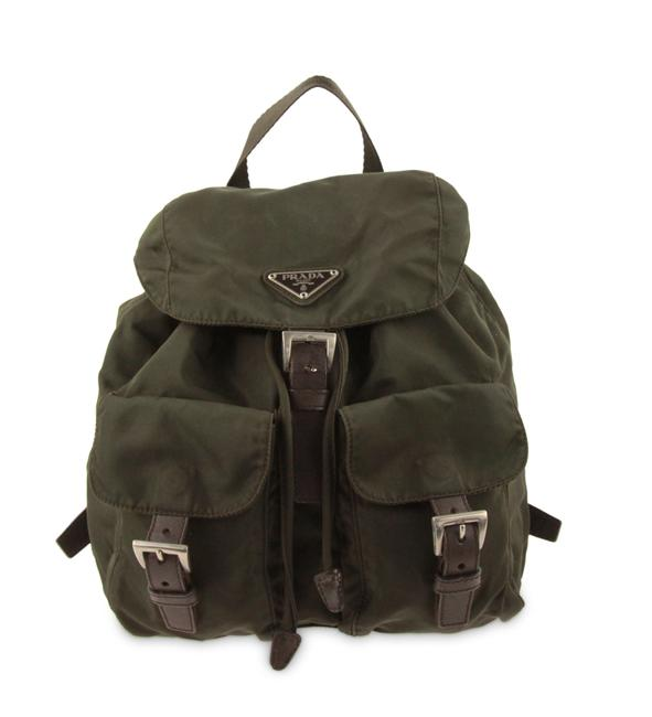 Item - Tessuto Olive Green Canvas Backpack