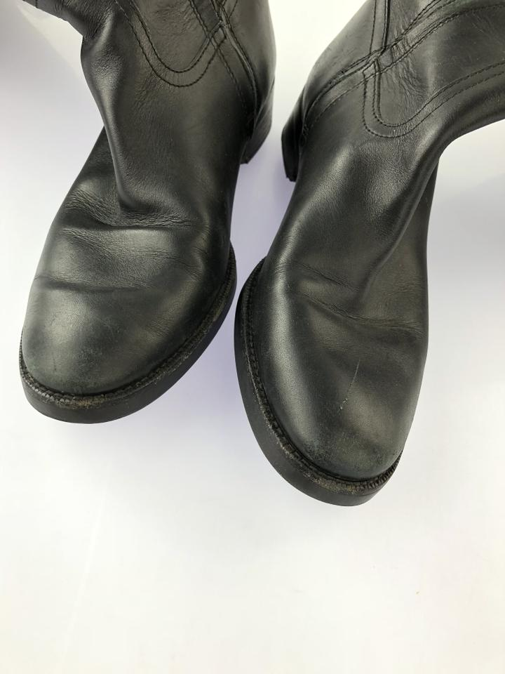 Bally Black Italian Leather Tall Boots Booties Size EU 35.5 (Approx ... 984f530417