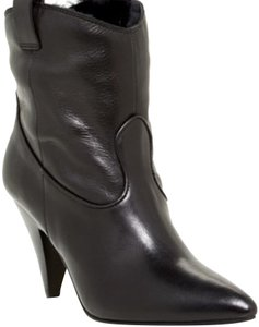 Sigerson Morrison Classic Leather Date Night Black Boots