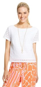 Lilly Pulitzer Target Crochet Top white