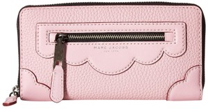 Marc Jacobs Marc Jacobs Haze Pink Fleur Leather Standard Continental Wallet