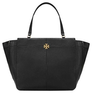 Tory Burch Unique Leather Tote in black
