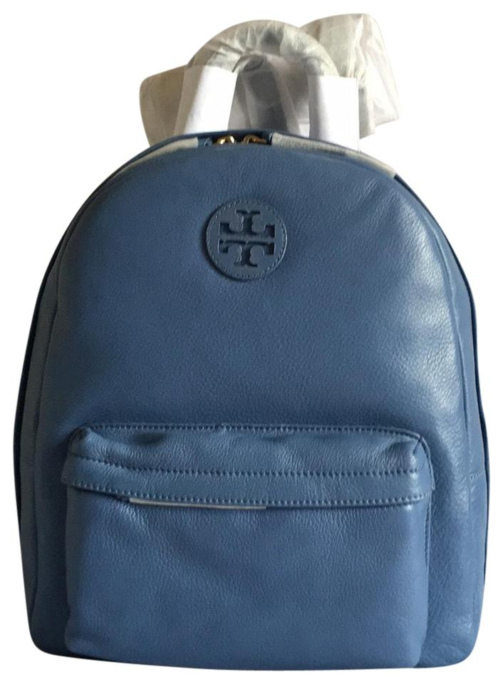 4b691b8344d Tory Burch Shoulder Blue Leather Backpack - Tradesy