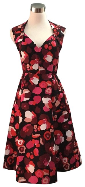 Item - Red Pink Mid-length Work/Office Dress Size 4 (S)
