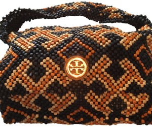 Tory Burch Satchel in Multi, navy , cream, orange