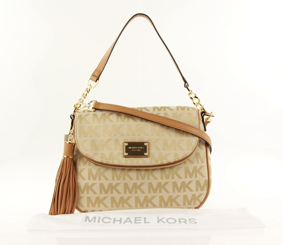 78b0fedc034c MICHAEL Michael Kors Jet Set Tasselbag Jacquard Leather Trim Convertible Cross  Body Bag Image 11. 123456789101112