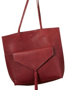 Anthropologie Tote in burgundy wine