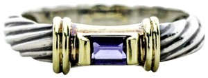 David Yurman Cable Classics Amethyst Band in Sterling Silver and 14k Gold
