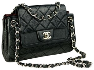 Chanel Distressed Calfskin Classic Flap Kate Moss Cross Body Bag