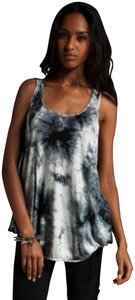 L.A.M.B. Lamb Tie Dye Extra Small Top White and Black