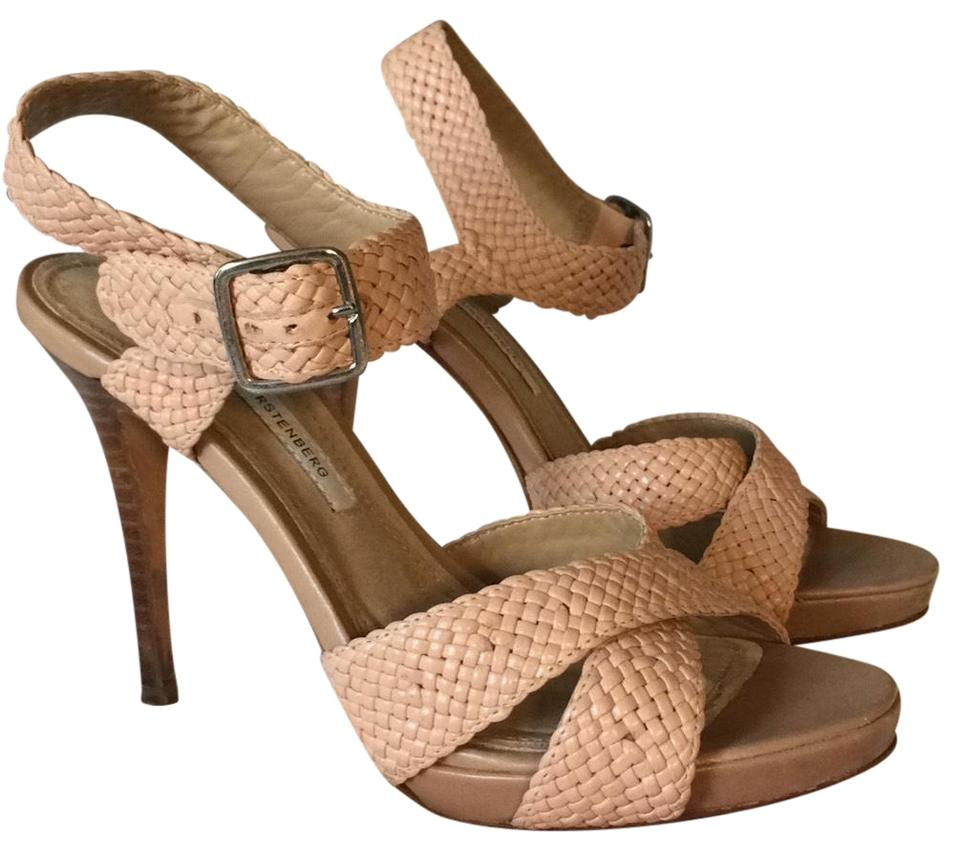 Diane von Leather Furstenberg Nude Pink Woven Leather von Sandals 30b9dc