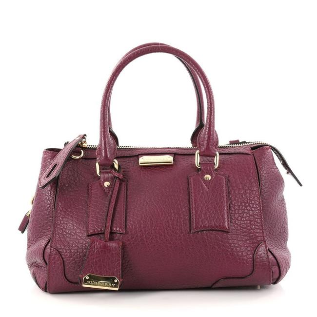 Item - Heritage Gladstone Purple Leather Shoulder Bag