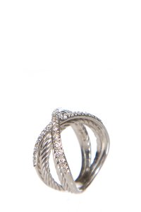 David Yurman David Yurman Silver & Diamond Ring