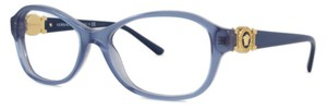 Versace Versace Women Oval Eyeglasses VE3185 5055 Blue Gold Frame Demo Lens