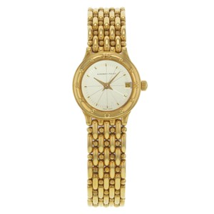 Audemars Piguet 22mm Round Silver Dial 18K Yellow Gold Quartz Watch (