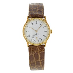 Audemars Piguet 25mm Round Dial 18K Yellow Gold Hand Wind Ladies Watch (18309)