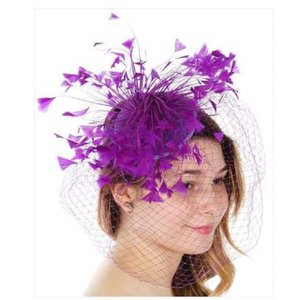 kentucky derby hat New Kentucky Derby dressy Formal church hat Feather  Fascinator Hat d0818b29deff