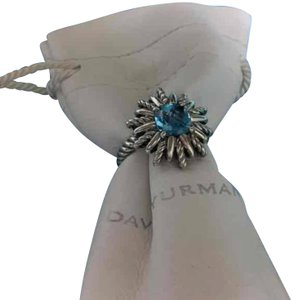 David Yurman David Yurman sterling silver and blue topaz starburst ring