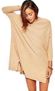 ASOS short dress Camel Sweater Cashmere Tunic on Tradesy