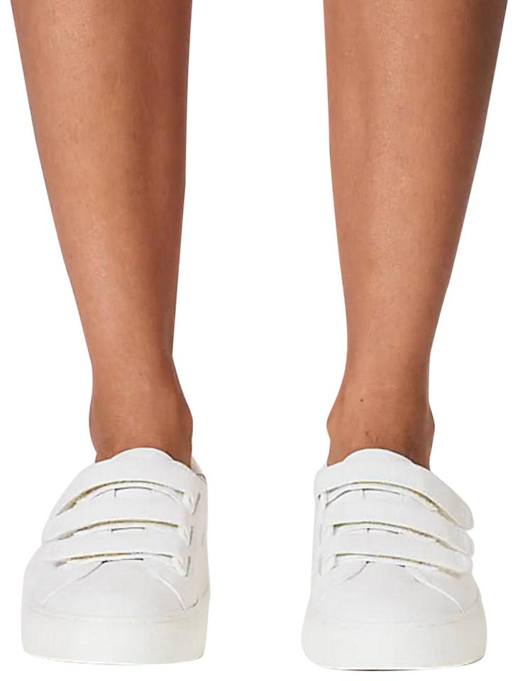 7ca5040d28c Tory Sport by Tory Burch White Color Block Off Strap Sneaker Calf ...