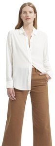 Everlane Button Down Silk Shirt Silk Button Down Work Shirt Top White
