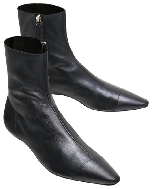 Item - Dark Gray Pointed Toe Ankle Mini Heel Boots/Booties Size EU 38 (Approx. US 8) Regular (M, B)