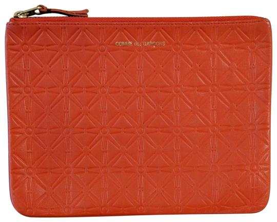 Preload https://img-static.tradesy.com/item/23083567/comme-des-garcons-orange-star-embossed-pouch-cosmetic-bag-0-1-540-540.jpg