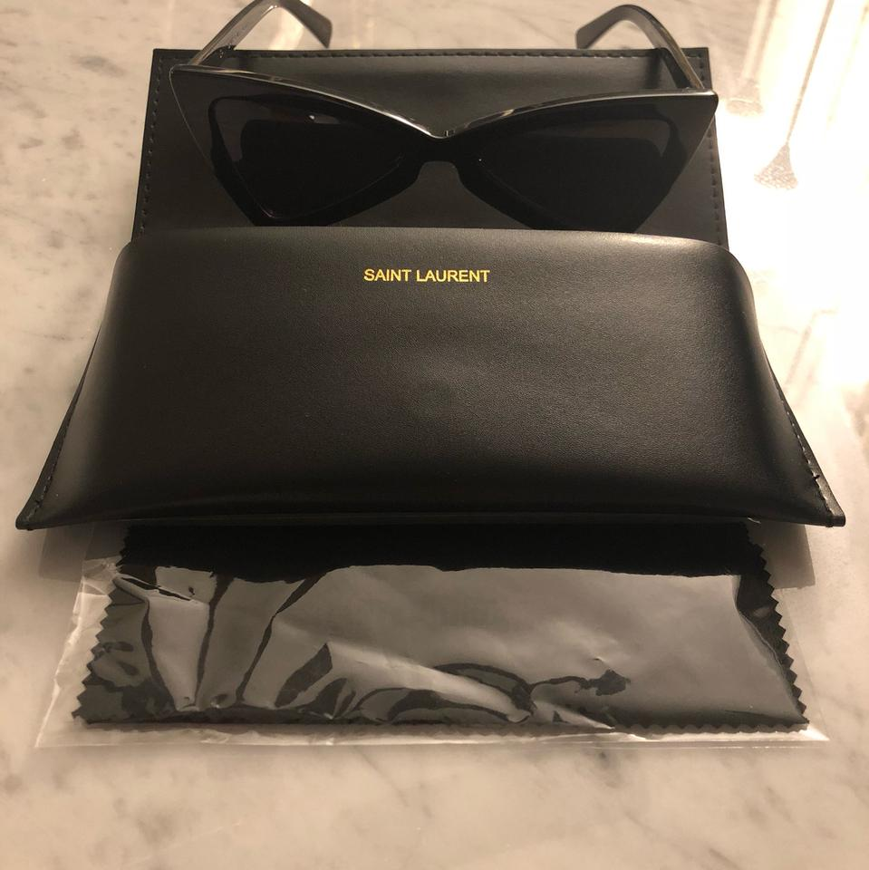 373ccec100 Saint Laurent Black Jerry-cat Eye-sl 207 Sunglasses - Tradesy