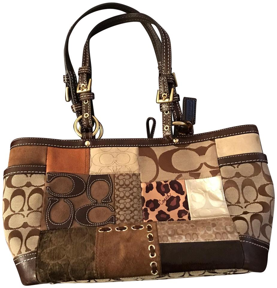 c00a81ba0e9 Coach Multi-patterned Purse Multi-color Leather Shoulder Bag 81% off retail