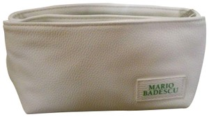Mario Badescu MARIO BADESCU FAUX LEATHER WHITE COSMETICS MAKEUP BAG CASE POUCH SAC