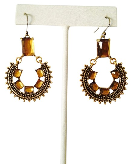 Lucky Brand NWOT Faceted Gold Chandelier Earrings