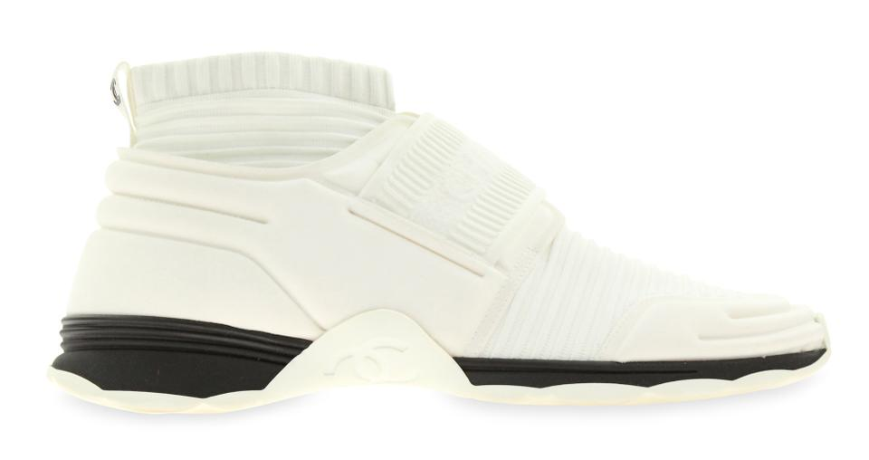 cb7724699a4 Chanel White Stretch Sock Sneakers Sneakers Size EU 41 (Approx. US ...