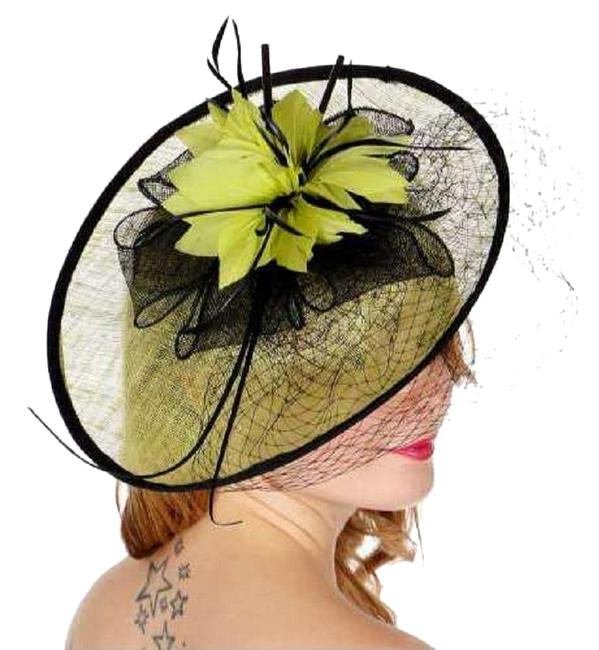 Item - Lime New Dress Formal Dressy Fan Shaped Feather Hat