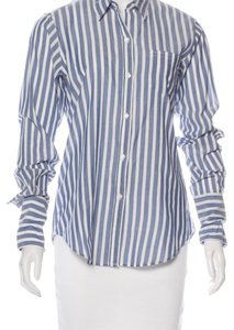 Nili Lotan Button Down Shirt blue/white