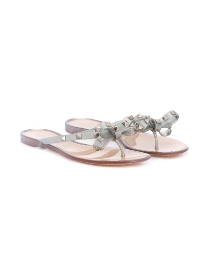 valentino silver rockstud flip flop rubber sandals size eu 39 approx us 9 regular m b. Black Bedroom Furniture Sets. Home Design Ideas
