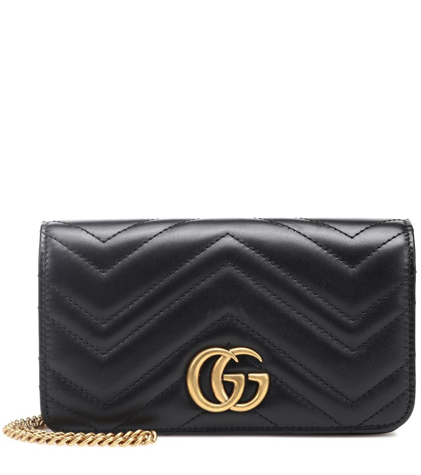 Gucci Marmont Gg Mini Quilted Black Leather Cross Body Bag - Tradesy 68d8912423211