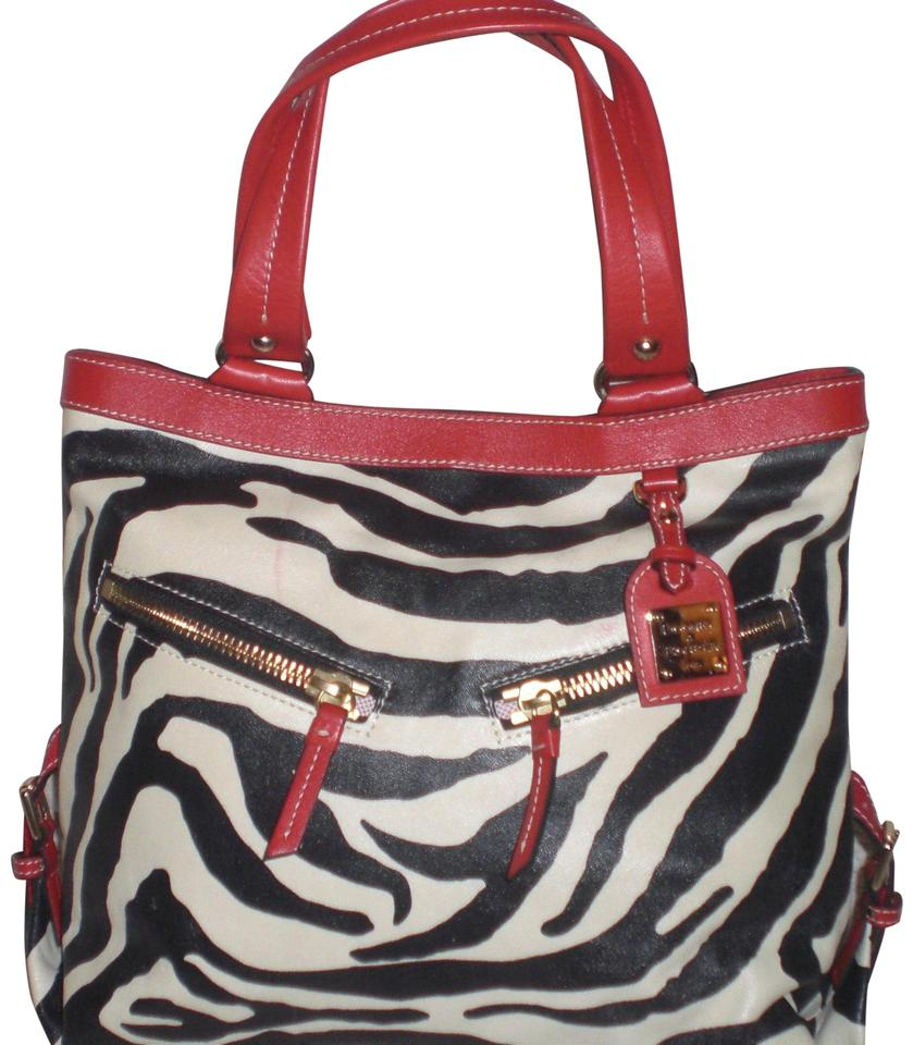 351b59d1398e Dooney   Bourke Dooney-amp-bourke-zebra-print-leather-with-red-trim ...