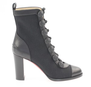 Christian Louboutin Stiletto Ankle Dances Black Boots