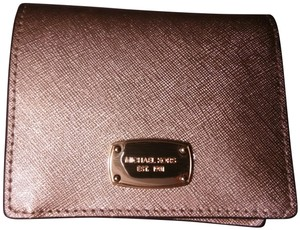 MICHAEL Michael Kors Coin Case Wristlet in Pale Gold