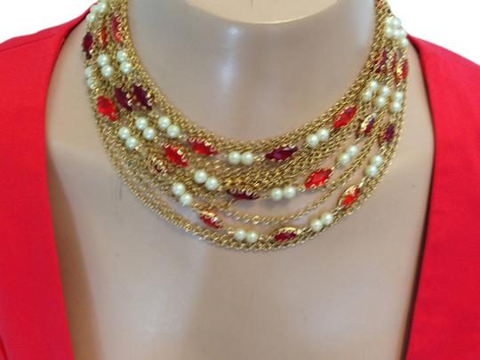 Preload https://item1.tradesy.com/images/red-vintage-15-strand-with-crystals-pearls-and-gold-chains-necklace-2308490-0-0.jpg?width=440&height=440