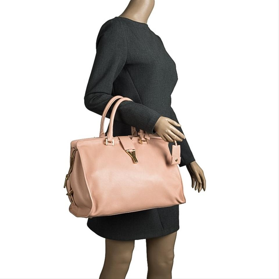 Peach Tote Medium Leather Cabas Saint ChYc Laurent Paris qfaPZX