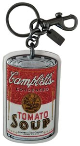 Coach Campbell's Tomato Soup Leather Key Ring Bag Charm