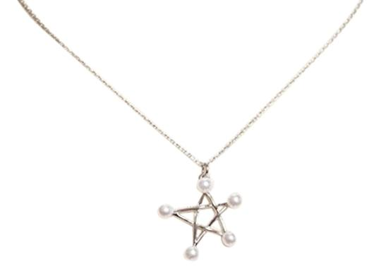 Preload https://item3.tradesy.com/images/9k-white-gold-and-pearl-star-necklace-2308577-0-0.jpg?width=440&height=440
