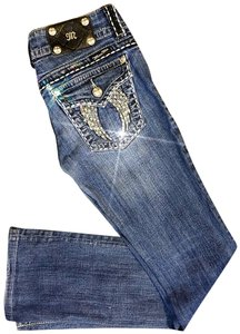 Miss Me Cowgirl Western Bling Boot Cut Jeans-Medium Wash